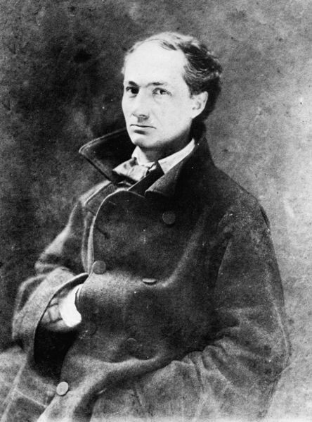 Charles Baudelaire. Nadar. 1855